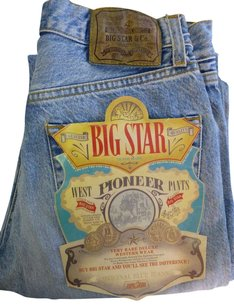 Big Star Denim Jean Jeans Straight Pants blue