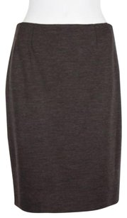 Bill Blass Womens Speckled Straight Pencil Knee Hength Skirt Brown