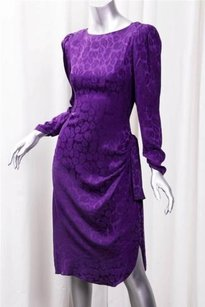 Bill Blass short dress Purple Womens Vintage on Tradesy