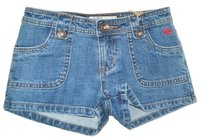 Billabong Denim Girls 10 Mini/Short Shorts Blue /Denim