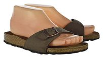 Birkenstock Womens 366 Slip On Leather Casual Brown Sandals