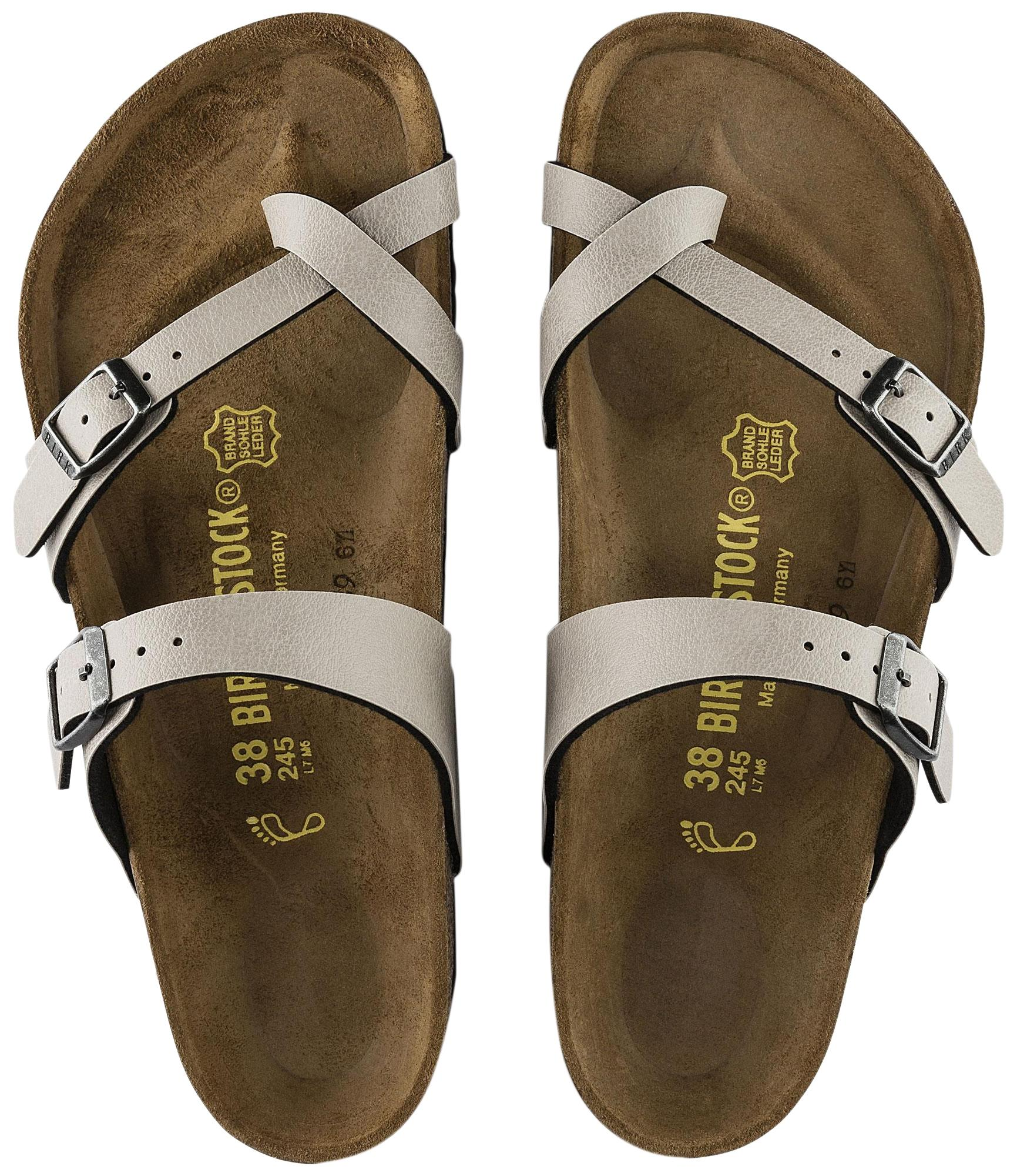Grey Birkenstock Sandals Up to 90% off at Tradesy