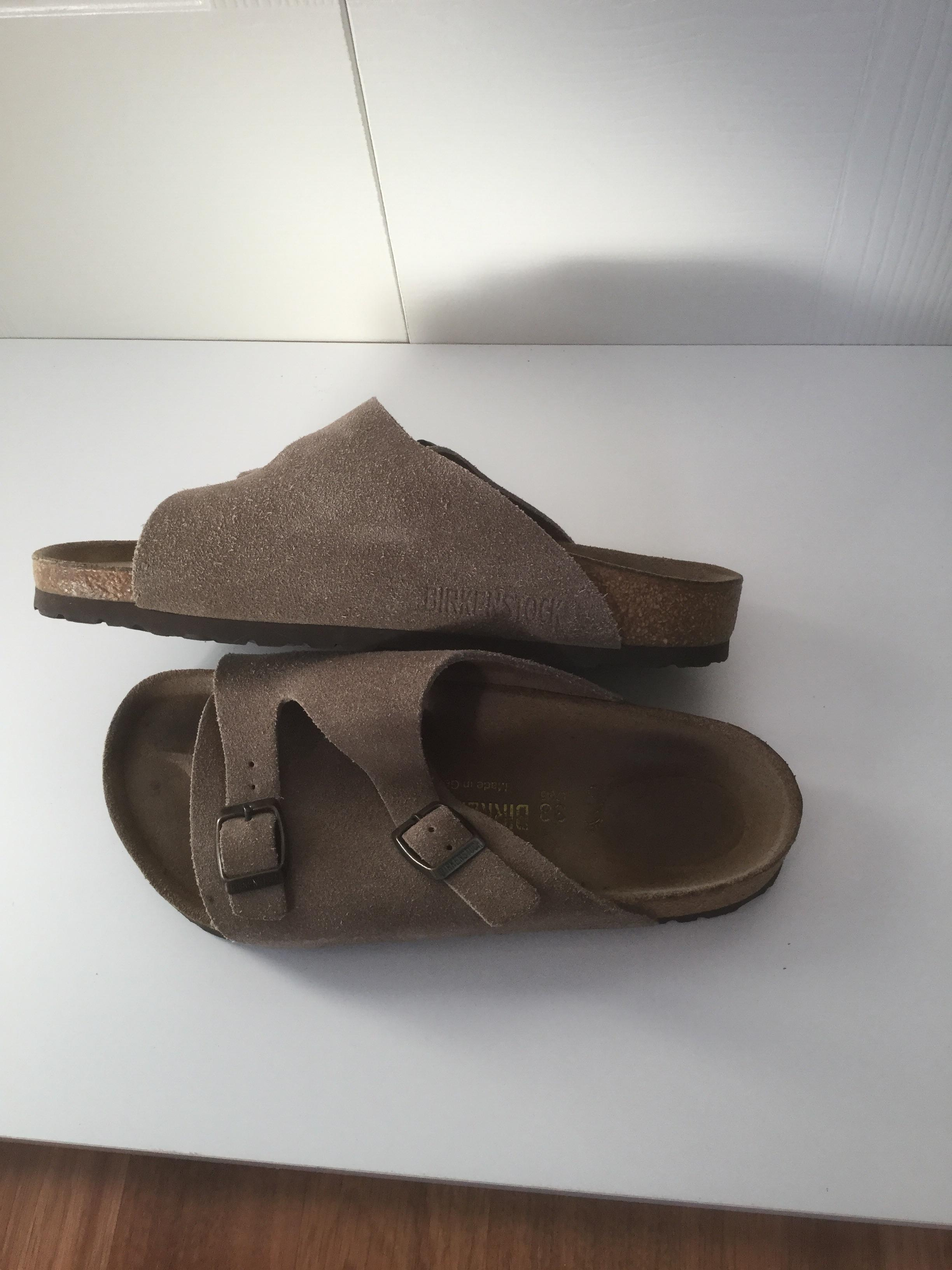 4c373c74d6d9 ... Birkenstock Taupe Taupe Taupe Zurich Sandals Size US 8 Regular (M