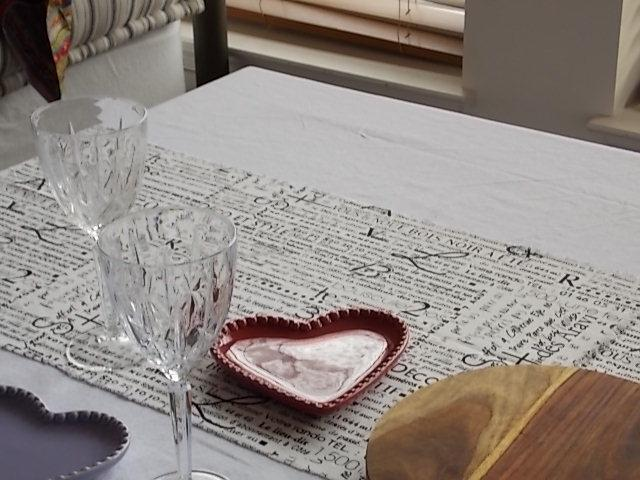 Black And White French Script Custom Made Navy Striped Table Runners  Tablecloth   Tradesy