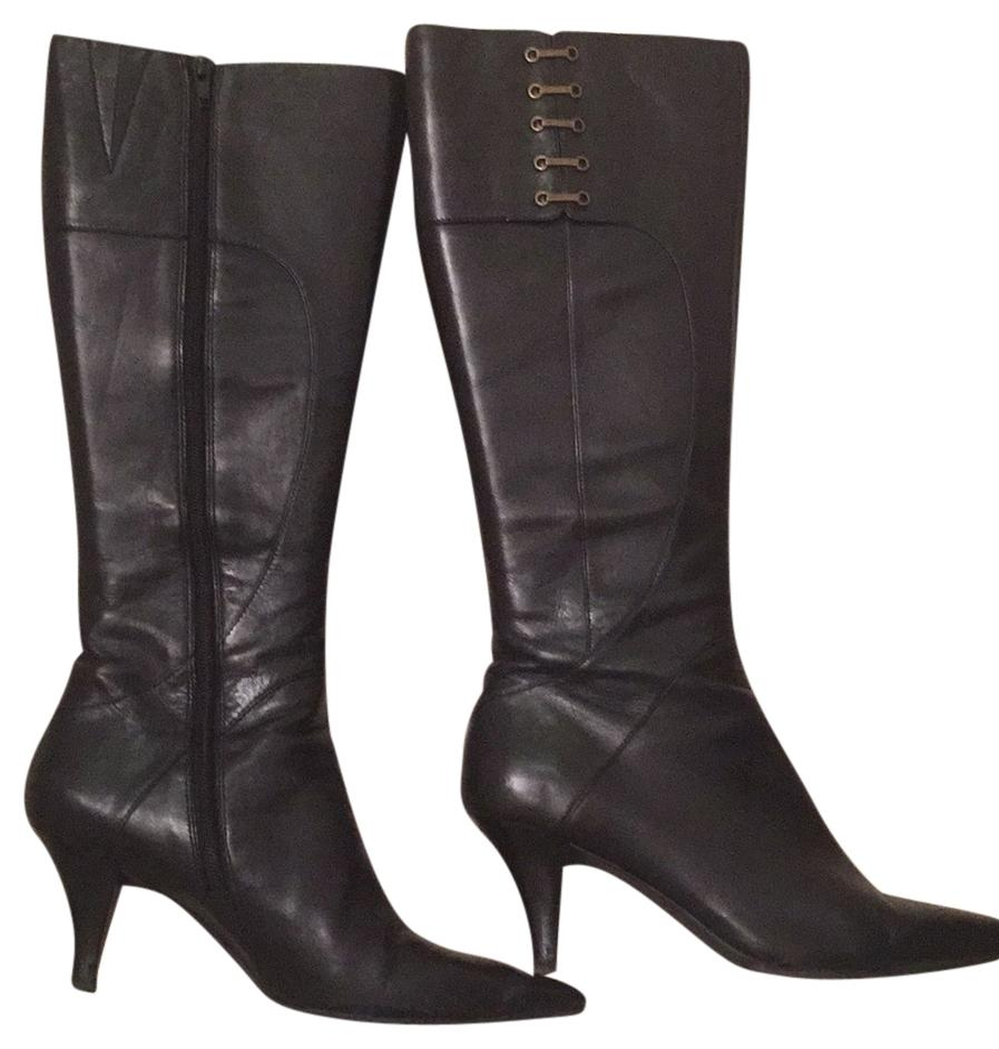 Black leather Ninewest Boot