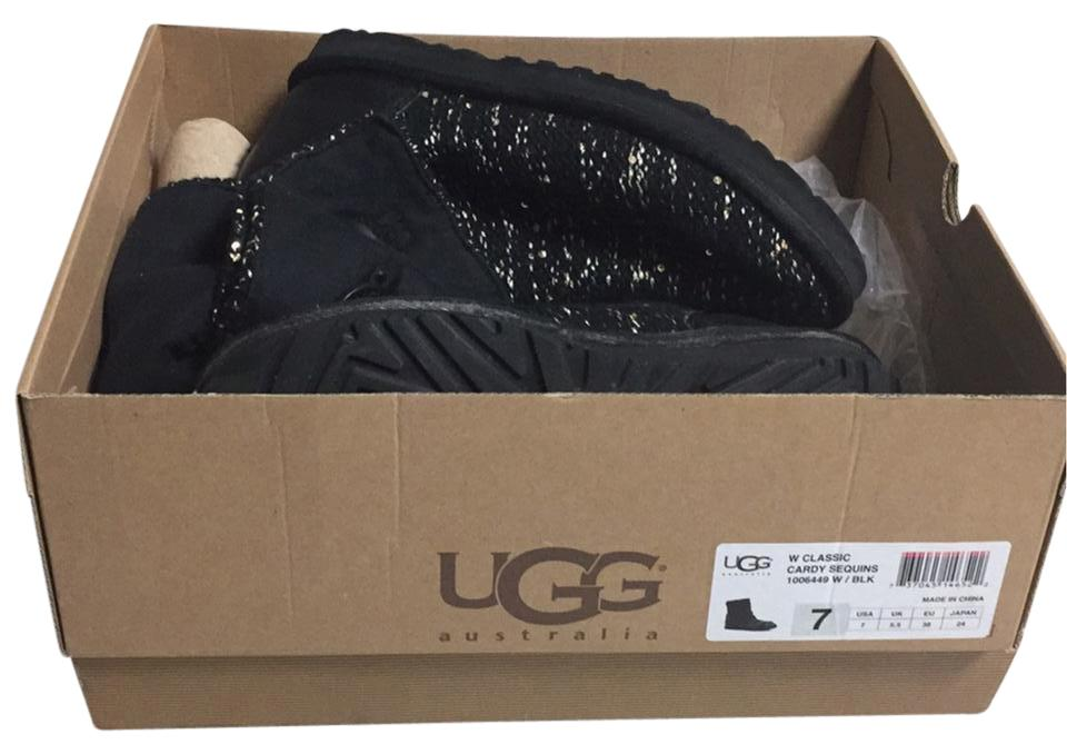ugg classic cardy sequins black with gold and silver sequins Boots ...