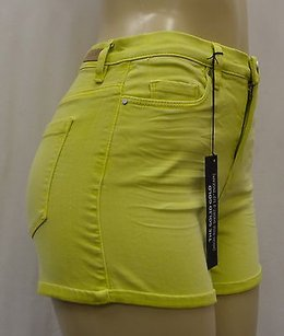 BlankNYC The Solid Gold High Rise 140529pk Mini/Short Shorts Lime Green