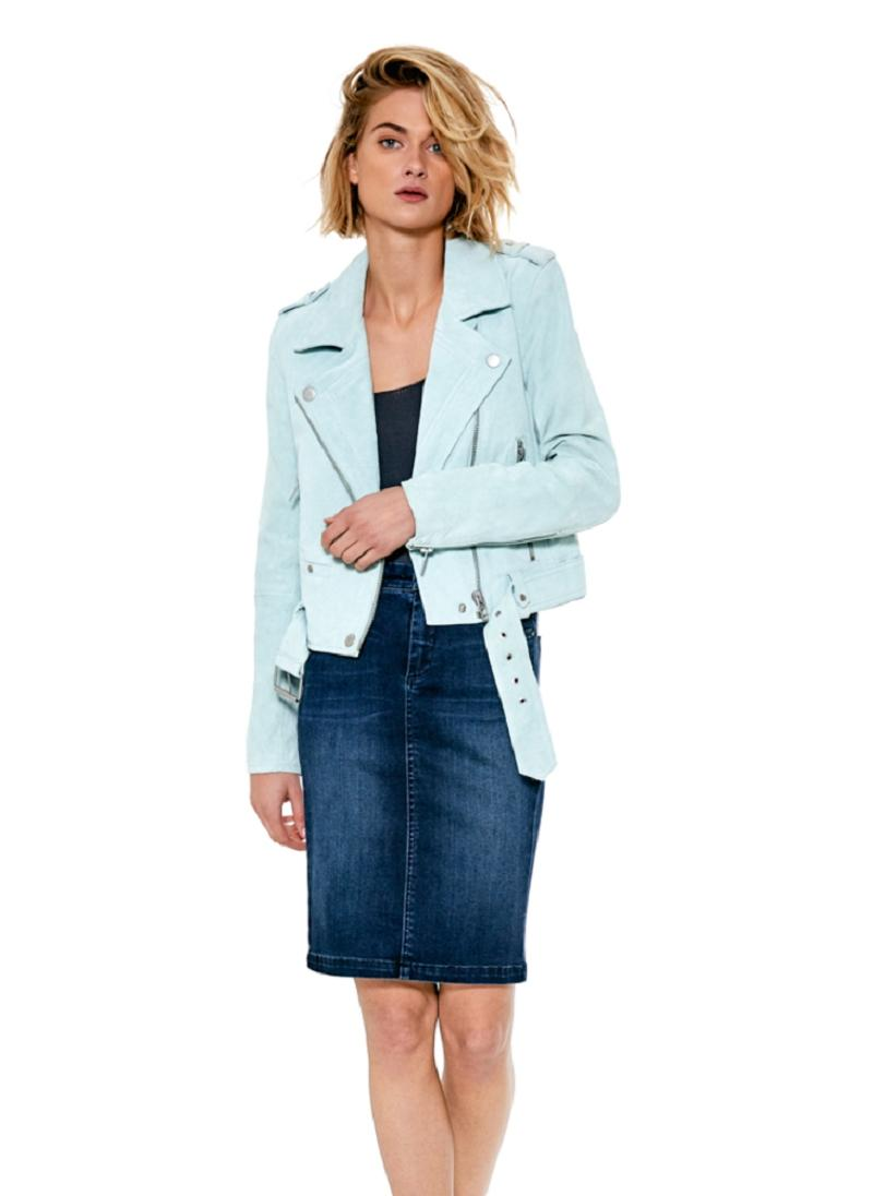BlankNYC Mint Green Morning Suede Leather Belted ...