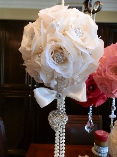 bling wedding decorations for sale bling pomander with hanging pearls amp 61229 1906