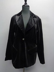 Bloomingdale's Long Sleeved One Button Sm10655 Black Jacket