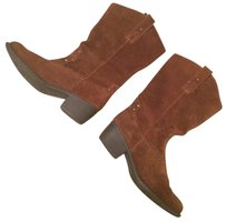 B.O.C. Suede Cowboy Leather New Brown Boots