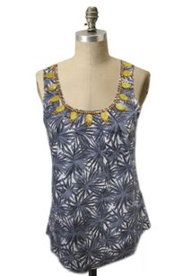 Boden Starburst Print Top Gray