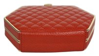 Bodhi Womens Quilted Orange Clutch