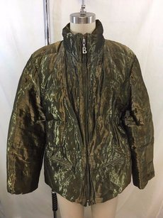 Bogner Vintage Metallic Goose Down Filled Jacket Coat