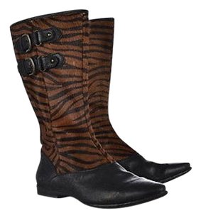 Børn Born Womens Brown Mid Calf 738 Animal Print Heels Multi-Color Boots