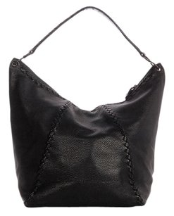 Bottega Veneta Black Woven Details Hobo Bag