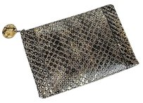 Bottega Veneta Gold/Black Clutch