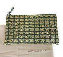 Bottega Veneta Leather Green/Gold Clutch