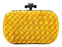 Bottega Veneta Mustard Yellow Clutch