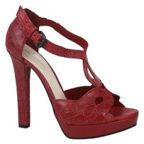 Bottega Veneta Crocodile Red Platforms