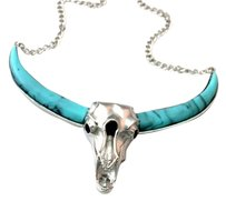 Boutique Buffalo Head Turquoise Necklace