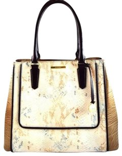 Brahmin Leather Off Tote in Gold
