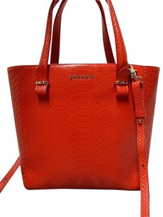 Brahmin Anywhere Snake Embossed Leather Convertible Tote Cross Body Bag