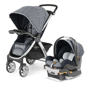 Bravo Trio 3-in-1 Baby Travel System Stroller w/ KeyFit 30 NEW Bravo Trio 3-in-1 Baby Travel System Stroller w/ KeyFit 30 Lilla NEW