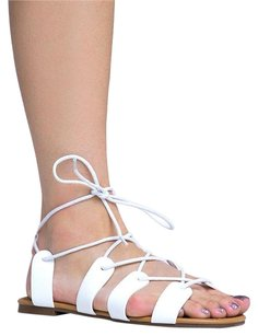 Breckelle's Ankle-strap Breckelles White Sandals