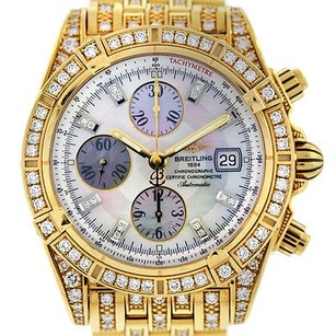 Breitling Breitling Chronomat Evolution K13356aj All Diamond 18k Yellow Gold Watch