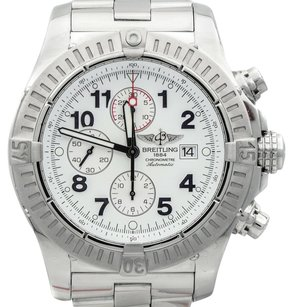 Breitling Breitling Super Avenger A13370 Stainless Steel White Dial Automatic Mens Watch