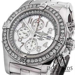 Breitling Breitling Super Avenger A13370 White Dial Diamond Watch