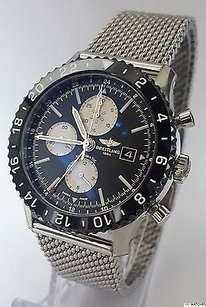 Breitling Mens Breitling Chronoliner Pilots Gmt Y2431012be10 Stainless Steel Date Watch