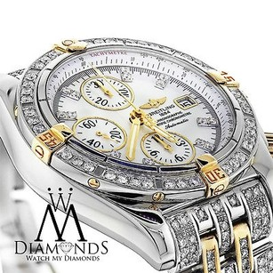 Breitling Diamond Breitling B13356 Windrider Evolution Two Tone Watch Mother Of Pearl Dial