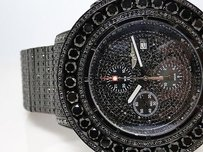Breitling Iced Out Ct Mens Breitling Super Avenger Black Diamond Watch Joe Rodeo