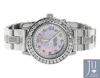 Breitling Ladies Breitling Aeromarine Pink Mop Colt Oceane Diamond Watch A77387 Ct