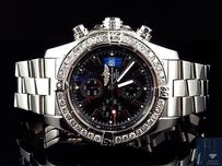 Breitling Mens Breitling A13370 Super Avenger 48mm Stainless Steel With Diamonds 4 Ct