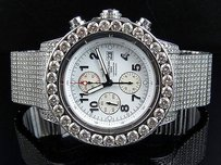 Breitling Mens Breitling A13370 Super Avenger 53mm Stainless Steel With Diamonds 39.5ct