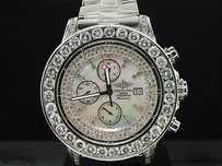 Breitling Mens Breitling Super Avenger 1 Row Big Diamond Custom Watch 22.55 Ct.