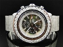 Breitling Mens Custom 55.20 Ct Breitling Super Avenger Aeromarine Diamond Watch