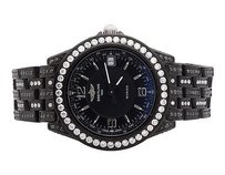 Breitling Unisex Mm Breitling Chronometre Wings Automatic Black Pvd Diamond Watch