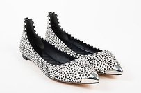Brian Atwood B Black Brown Brown, Black, White, Silver-Tone Flats