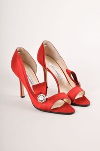 Brian Atwood Satin Red Pumps