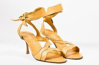 Brian Atwood Leather Tan Sandals