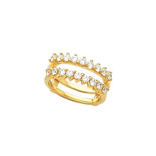 .75ct Diamond Bridal Ring Guard 14k White Or Yellow Gold