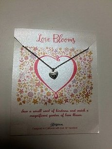 Brighton Brighton 18 Love Blooms Heart Necklace On Chain Great Gift Bin 3014