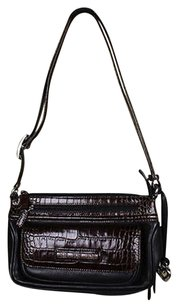 Brighton Womens Back Handbag Leather Color Block Shoulder Bag