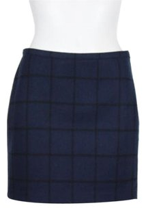 Broadway & Broome And Womens Straight Wool Blend Above Knee Skirt Blue Black