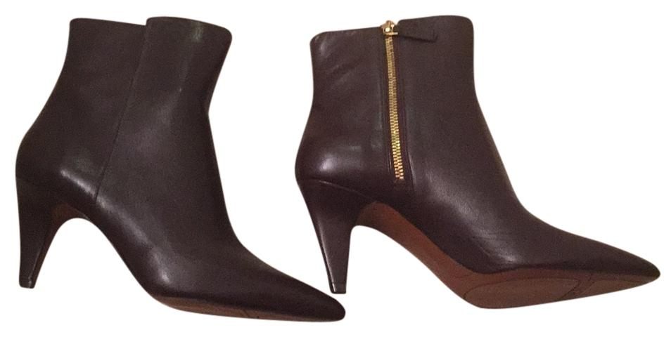 Brown leather ninwest bootie