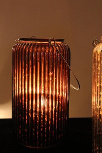 Brown Mercury Glass Lanterns Like Pottery Barn Paros